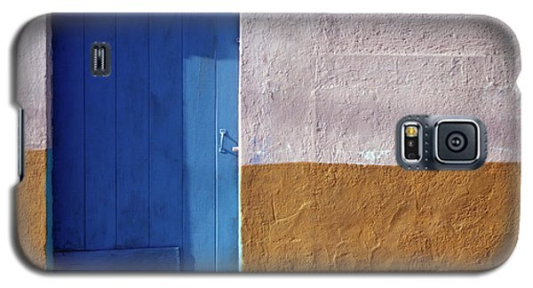 Galaxy S5 Case featuring the photograph Blue Door Cozumel Mexico by John  Mitchell