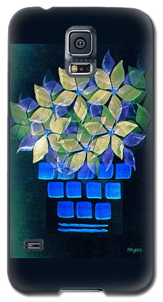 Blue Flower Pot Galaxy S5 Case by Paula Ayers