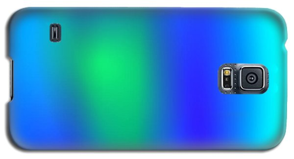 Blue Green Abstract Galaxy S5 Case