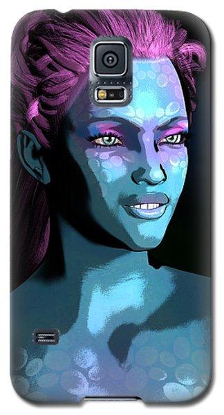 Galaxy S5 Case featuring the digital art Blue Halo by Maynard Ellis
