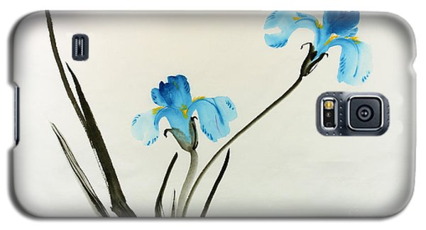 blue iris II Galaxy S5 Case by Yolanda Koh