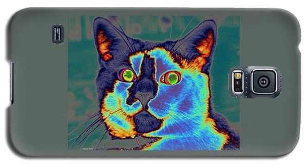 Blue Kitty Galaxy S5 Case