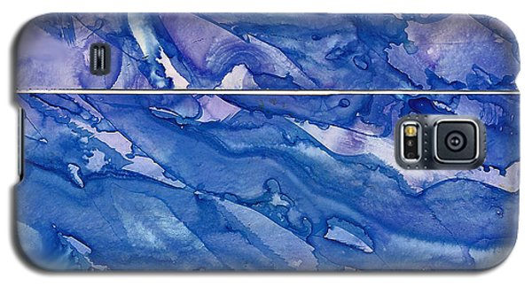 Galaxy S5 Case featuring the painting Blue Mood by Joan Hartenstein