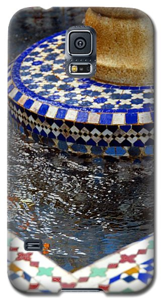 Blue Mosaic Fountain II Galaxy S5 Case by Bonnie Myszka