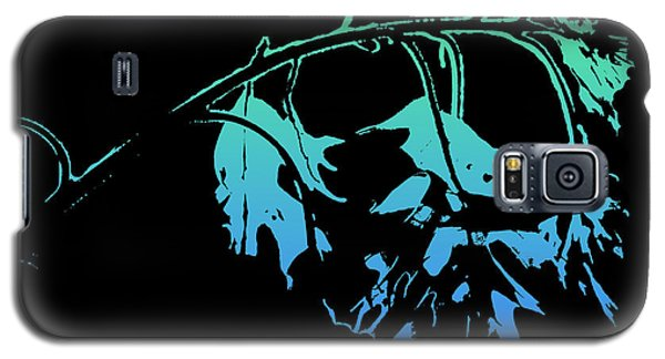 Galaxy S5 Case featuring the photograph Blue On Black by Lauren Radke