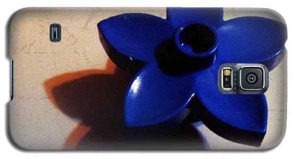 Blue Galaxy S5 Case - Blue Plastic Flower by Ken Powers