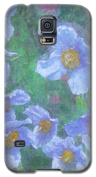 Blue Poppies Galaxy S5 Case