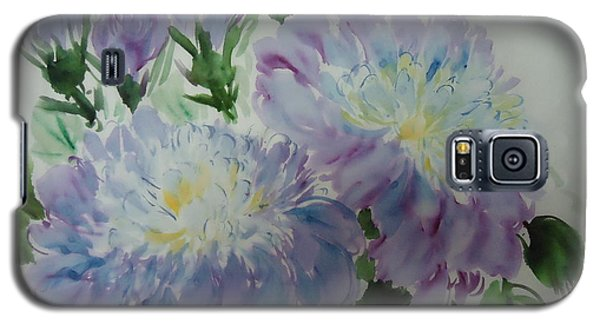 Galaxy S5 Case featuring the painting Blue Purple Flower by Dongling Sun