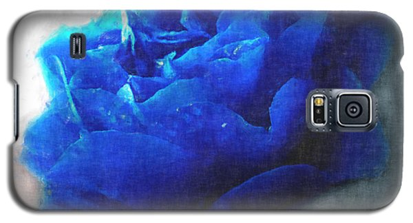 Galaxy S5 Case featuring the digital art Blue Rose by Debbie Portwood