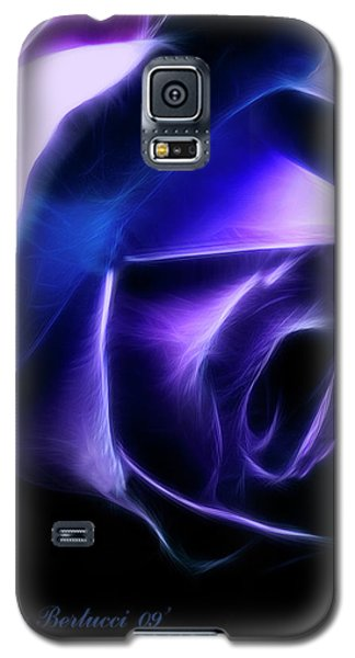 Galaxy S5 Case featuring the photograph Blue Rose by Joan Bertucci