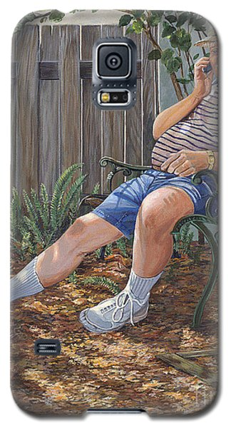 Galaxy S5 Case featuring the painting Blue Royal by AnnaJo Vahle