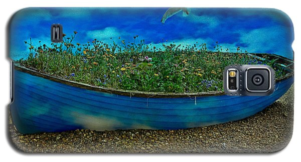 Galaxy S5 Case featuring the photograph Blue Sky Boat  by Chris Lord