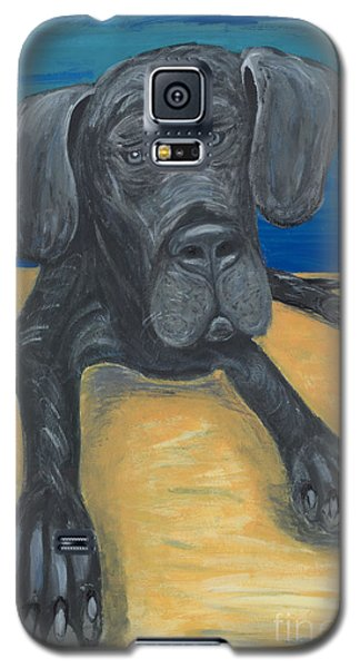 Blue The Great Dane Pup Galaxy S5 Case