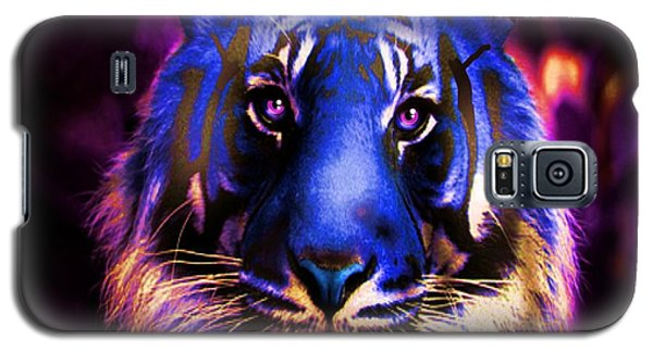 Galaxy S5 Case featuring the photograph Blue Tiger Of The Purple Forest by George Pedro