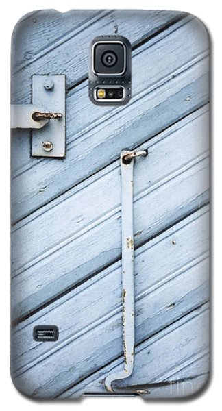 Galaxy S5 Case featuring the photograph Blue Wooden Wall With Metal Hook by Agnieszka Kubica