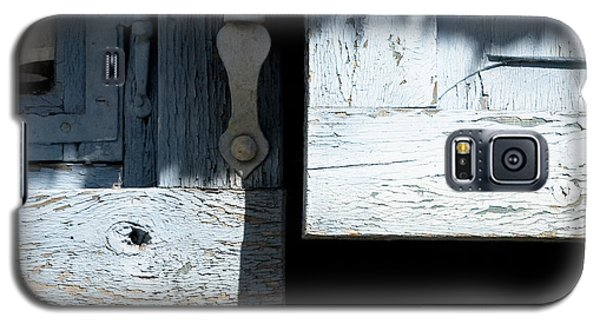 Galaxy S5 Case featuring the photograph Blue Wooden Window Shutters by Agnieszka Kubica