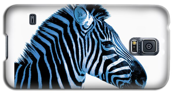 Galaxy S5 Case featuring the photograph Blue Zebra Art by Rebecca Margraf