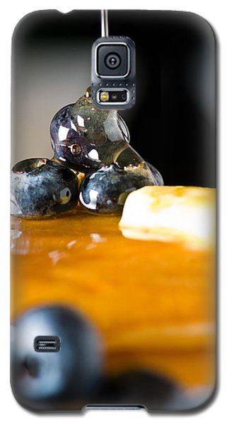 Blueberry Butter Pancake With Honey Maple Sirup Flowing Down Galaxy S5 Case