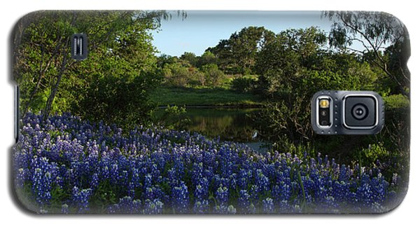 Bluebonnets At The Pond Galaxy S5 Case