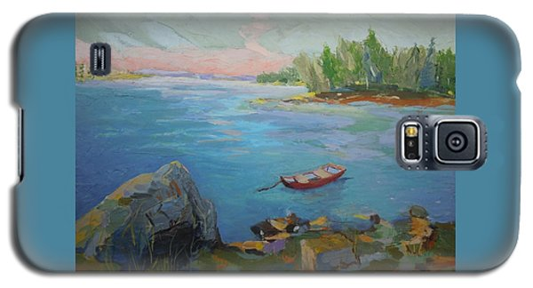 Boat And Bay Galaxy S5 Case by Francine Frank
