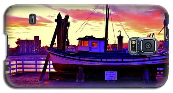 Boat On Santa Cruz Wharf Galaxy S5 Case