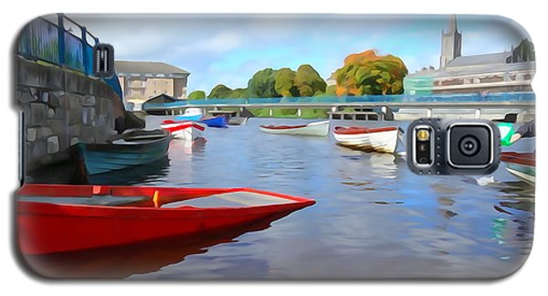 Galaxy S5 Case featuring the photograph Boats On The Garavogue by Charlie and Norma Brock