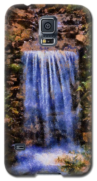 Galaxy S5 Case featuring the digital art Botanical Garden Falls by Lynne Jenkins