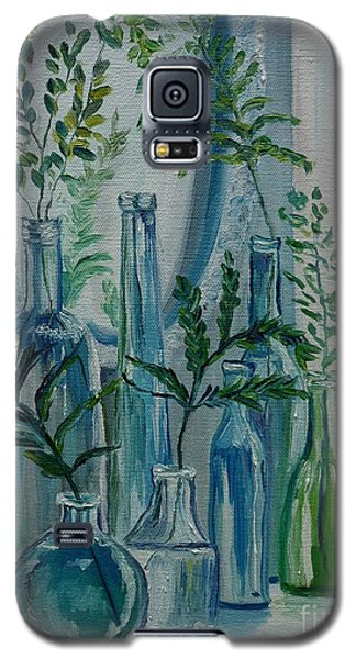 Galaxy S5 Case featuring the painting Bottle Brigade by Julie Brugh Riffey