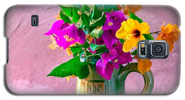 Bougainvilleas In A Green Jar. Valencia. Spain Galaxy S5 Case