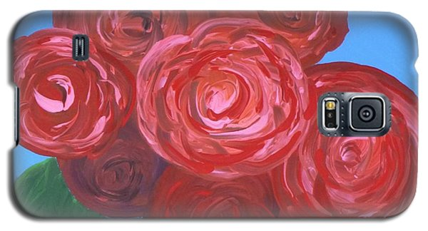 Galaxy S5 Case featuring the painting Bouquet Of Roses by Alys Caviness-Gober