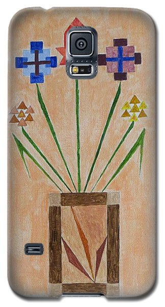Galaxy S5 Case featuring the painting Bouquet by Sonali Gangane