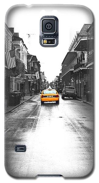 Bourbon Street Taxi French Quarter New Orleans Color Splash Black And White Film Grain Digital Art Galaxy S5 Case by Shawn O'Brien