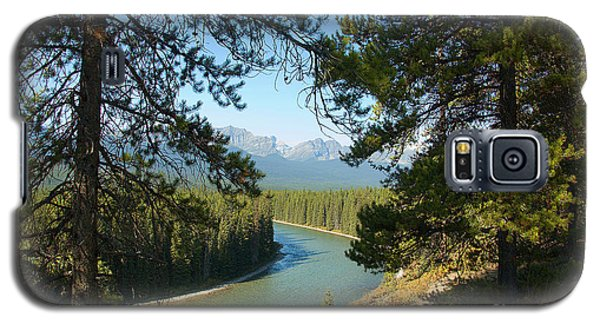 Galaxy S5 Case featuring the photograph Bow River by Bob and Nancy Kendrick