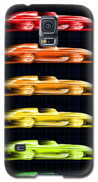 Galaxy S5 Case featuring the drawing 1959 Stingray Box Of Crayons by K Scott Teeters