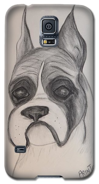 Galaxy S5 Case featuring the drawing Boxer by Maria Urso