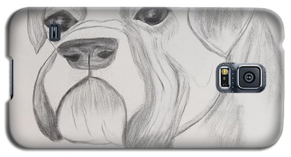 Galaxy S5 Case featuring the drawing Boxer No Crop by Maria Urso
