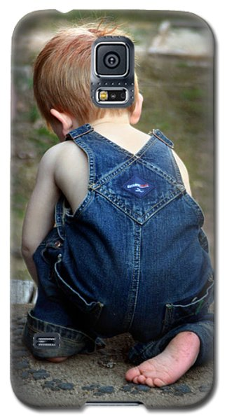 Galaxy S5 Case featuring the photograph Boy In Overalls by Kelly Hazel