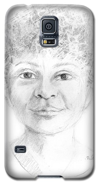 Boy Or Girl Woman Or Man African Or Asian Has Curly Hair Big Lips And A Big Head Galaxy S5 Case by Rachel Hershkovitz