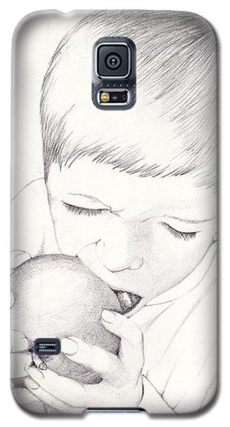 Boy With Apple Galaxy S5 Case