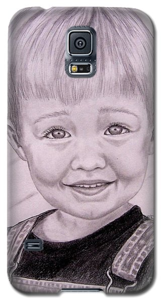 Galaxy S5 Case featuring the drawing Brady by Julie Brugh Riffey