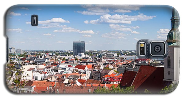 Galaxy S5 Case featuring the photograph Bratislava Roofs by Les Palenik