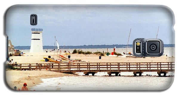 Galaxy S5 Case featuring the photograph Breezy Point Bayside Frosted Glass by Maureen E Ritter