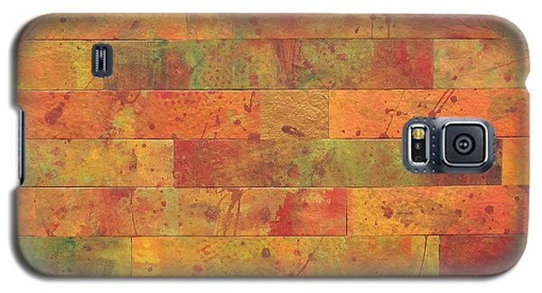 Galaxy S5 Case featuring the painting Brick Orange by Kathy Sheeran