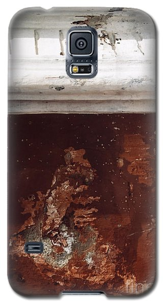 Galaxy S5 Case featuring the photograph Brick Red Wall Detail by Agnieszka Kubica