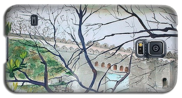 Galaxy S5 Case featuring the painting Bridge In China by Mary Kay Holladay