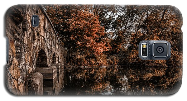 Galaxy S5 Case featuring the photograph Bridge To Autumn by Tom Gort