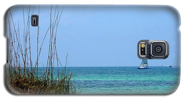 Galaxy S5 Case featuring the photograph Bright Blue by Ginny Schmidt