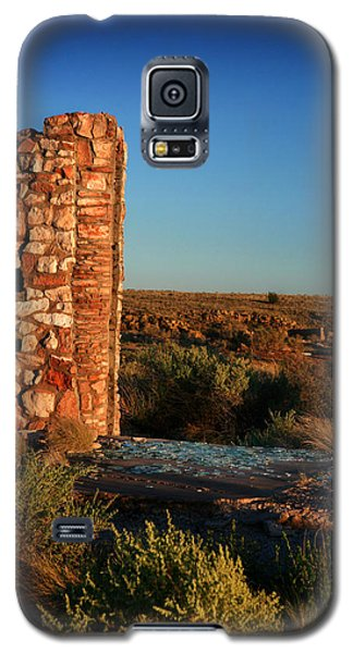 Galaxy S5 Case featuring the photograph Broken Glass At Two Guns by Lon Casler Bixby