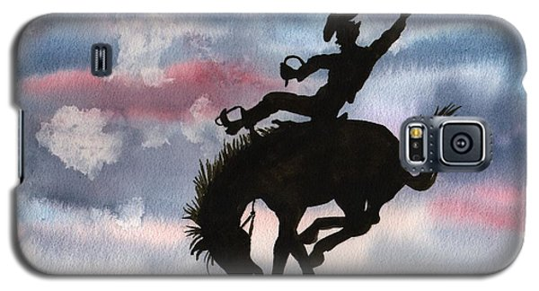 Bronco Busting Galaxy S5 Case by Sharon Mick