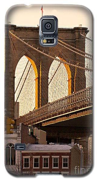 Galaxy S5 Case featuring the photograph Brooklyn Bridge - New York by Luciano Mortula